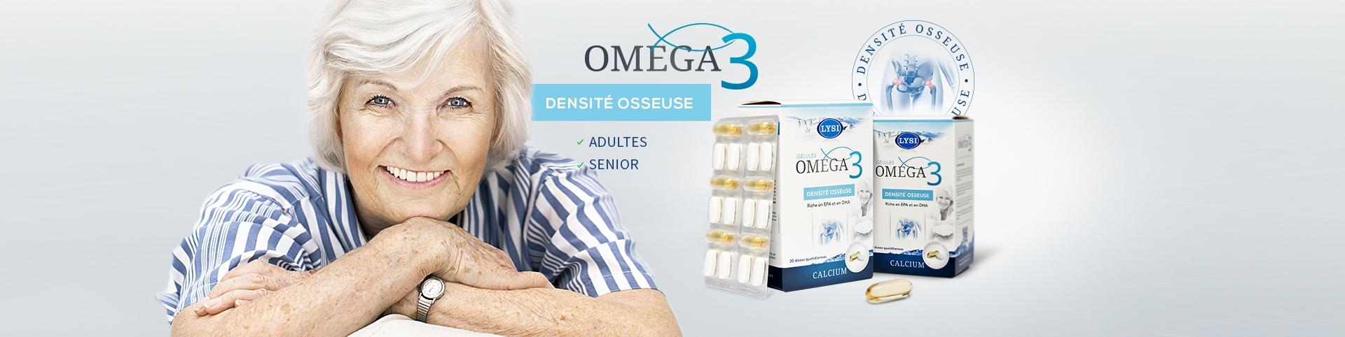 Cure d'omega 3, calcium et vitamine D pour rétablir votre densité osseuse